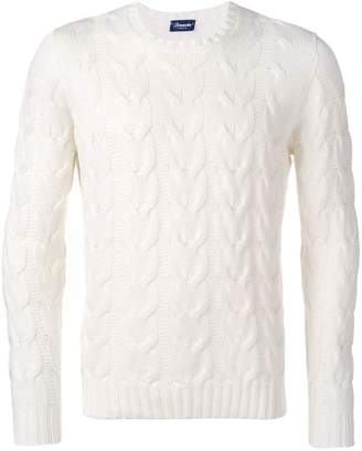 0a2e368443 Mens White Chunky Knit Sweater - ShopStyle