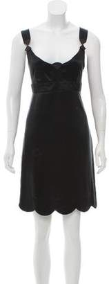 See by Chloe Silk Scallop Accented Dress