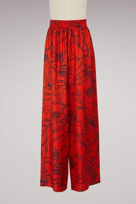 Roseanna Connor wide-leg silk pants