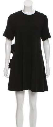 Proenza Schouler Wool Short-Sleeve Mini Dress