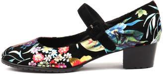 Django & Juliette Tandosi Bright floral-b Shoes Womens Shoes Dress Heeled Shoes