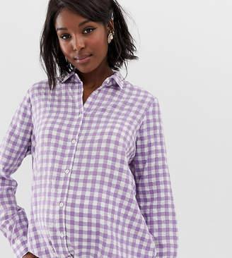 Glamorous Bloom oversized boyfriend shirt in gingham