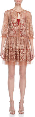 Blugirl Embroidered Tulle Shift Dress