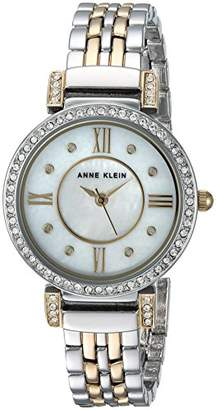 Anne Klein Women's AK/2929MPTT Swarovski Crystal Accented Two-Tone Bracelet Watch