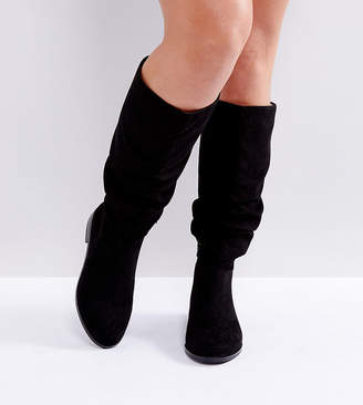 227796bc6020 Asos Design CAPITAL Wide Fit Slouch Knee Boots
