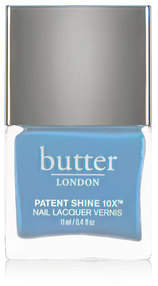 Butter London Patent Shine 10x Nail Lacquer - Candy Floss - Opaque soft powder blue creme