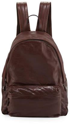 Brunello Cucinelli Buffalo Leather Backpack, Copper
