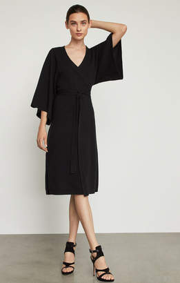 BCBGMAXAZRIA Faux Wrap Robe Dress