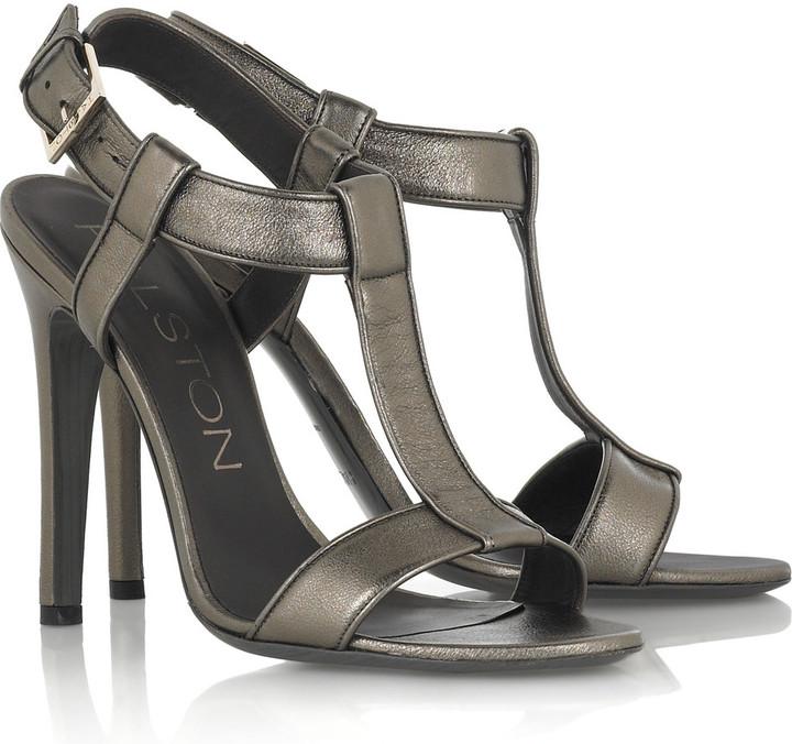 Halston Master leather sandals