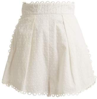Zimmermann Melody High Waist Short - Womens - Ivory