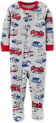 Carter's Baby Boys Rescue-Print Cotton Footed Pajamas