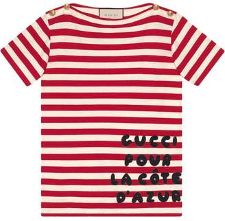 Gucci Stripe cotton shirt with patch