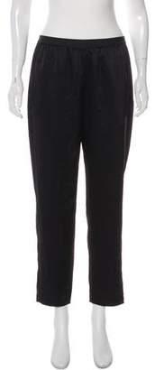 Alexander Wang Satin High-Rise Cropped Pants