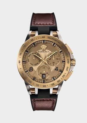Versace Burgundy Sport Tech Watch