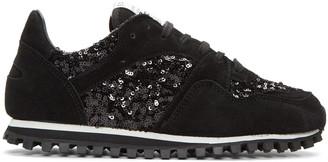 Comme des Garçons Comme des Garçons Black Spalwart Edition Sequin Sneakers $455 thestylecure.com