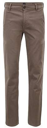 HUGO BOSS Slim-fit casual chinos in brushed stretch cotton