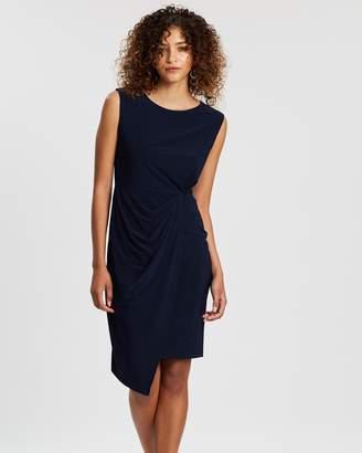 Wallis Ruched Side Step Hem Dress