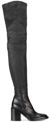 Ann Demeulemeester thigh-high mid-heel boots