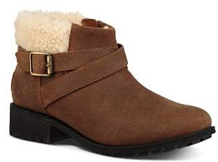 UGG Women's Benson Round Toe Leather Booties