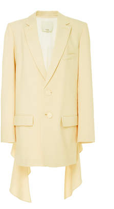 Tibi Long Double-Breasted Blazer