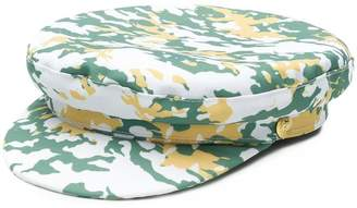 Manokhi camouflage print Biker cap