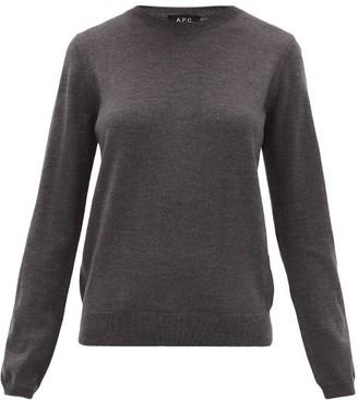 A.P.C. Savannah Merino Wool Sweater - Womens - Grey
