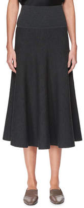The Row Alessia Wool A-Line Midi Skirt
