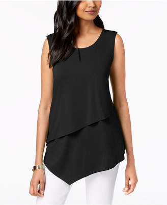 Alfani Tiered Asymmetrical Top