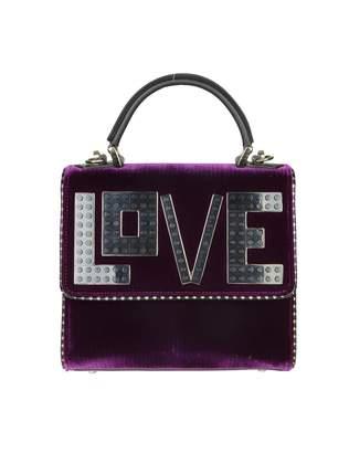 Les Petits Joueurs Les Petites Joueurs mini Alex Hand Bag In Velvet Violet Color
