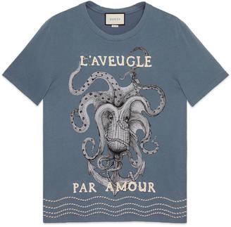 Cotton t-shirt with appliqués $420 thestylecure.com