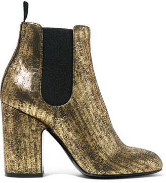 Laurence Dacade - Mila Metallic Brushed-leather Ankle Boots - IT36 $950 thestylecure.com