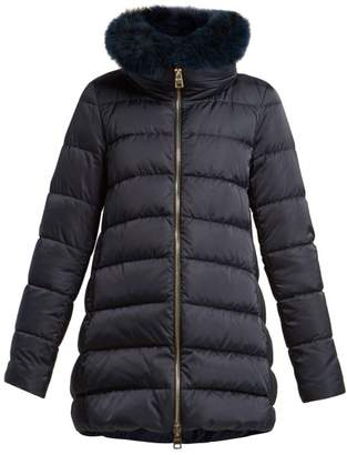 Herno Double Layer Quilted Down Coat - Womens - Navy