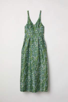 H&M Jacquard-patterned Dress - Green