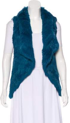 Yves Salomon Open Front Fur Vest