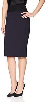 Lark & Ro Women's High Waist Double Knit Ponte Stretch Pencil Skirt