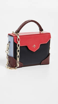 Atelier MANU Micro Bold Combo Top Handle Bag with Gold Chain