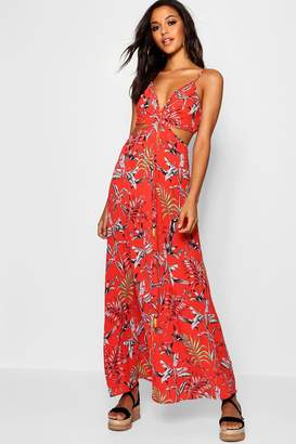 307221e3b3b boohoo Red Print Maxi Day Dresses - ShopStyle