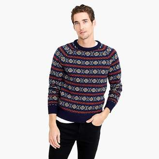 J.Crew Lambswool Fair Isle sweater in navy