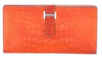 Hermes Matte Alligator Bearn Wallet