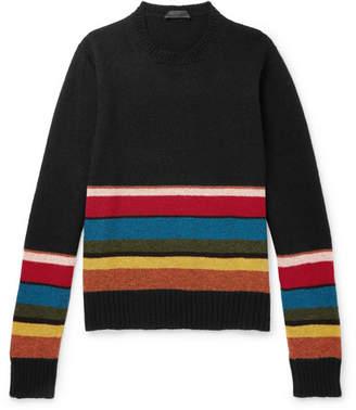 Prada Striped Shetland Virgin Wool Sweater