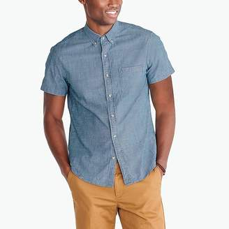 J.Crew Mercantile Slim short-sleeve flex chambray shirt
