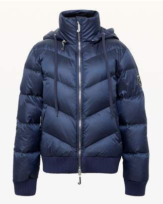 Juicy Couture Royal Navy Hooded Down Puffer Jacket