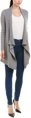 Autumn Cashmere Ribbed Wool & Cashmere-Blend Cardigan