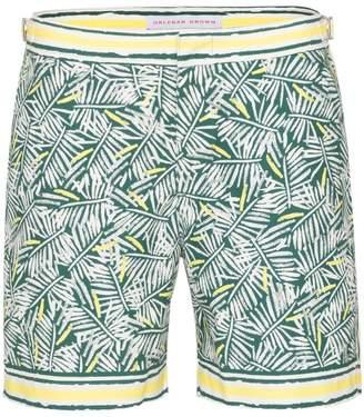 eacc2a80bb Orlebar Brown Bulldog rainforest print swim shorts