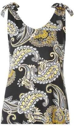 Dorothy Perkins Womens Black Paisley Print Vest