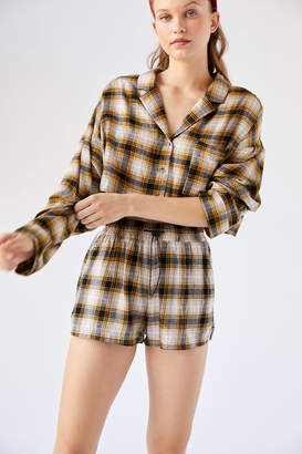 Out From Under Whitney Boxy Flannel Shirt