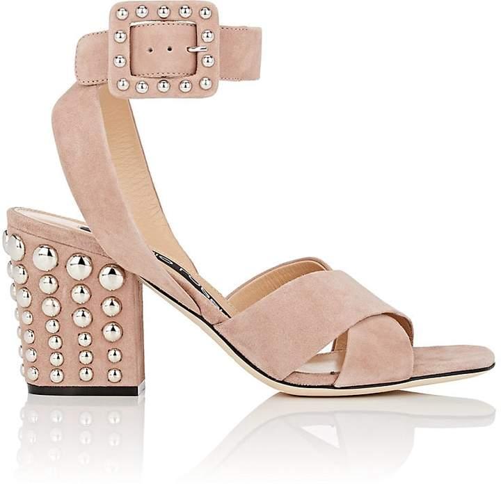 Sergio Rossi Women's Elettra Studded Suede Sandals