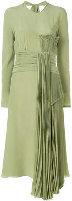 Rochas pleated trim detail dress