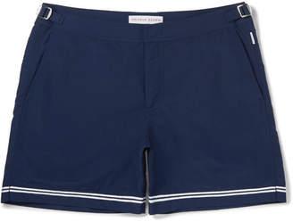 Orlebar Brown Bulldog Mid-Length Stripe-Trimmed Swim Shorts