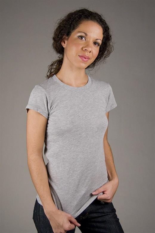 LA Made Short Sleeve Basic Tee in Heather Grey